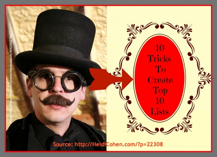 blogging why top 10 lists rock - heidi cohen