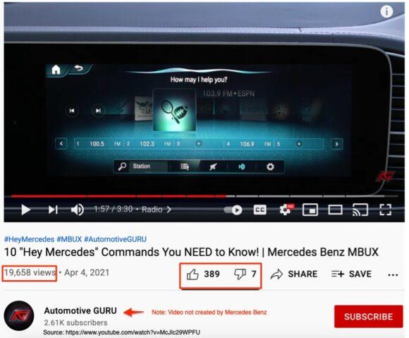 Hey Mercedes video
