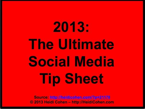 102 Social Media Tips