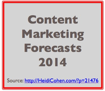 2014 Content Marketing Forecast-Heidi Cohen