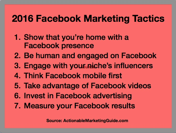 2016 Facebook Marketing Tactics-Actionable Marketing Guide-1