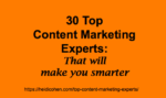 Top Content Marketing Experts
