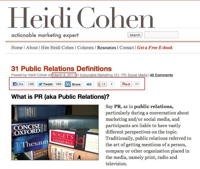 31 Public Relations Definitions | Heidi Cohen