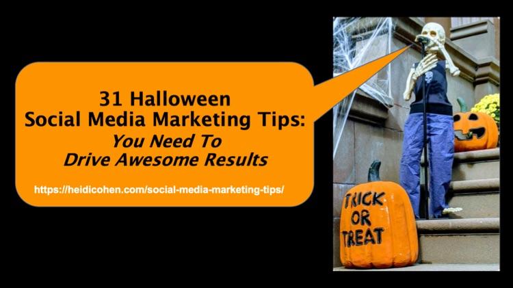 31 Halloween Social Media Marketing Tips