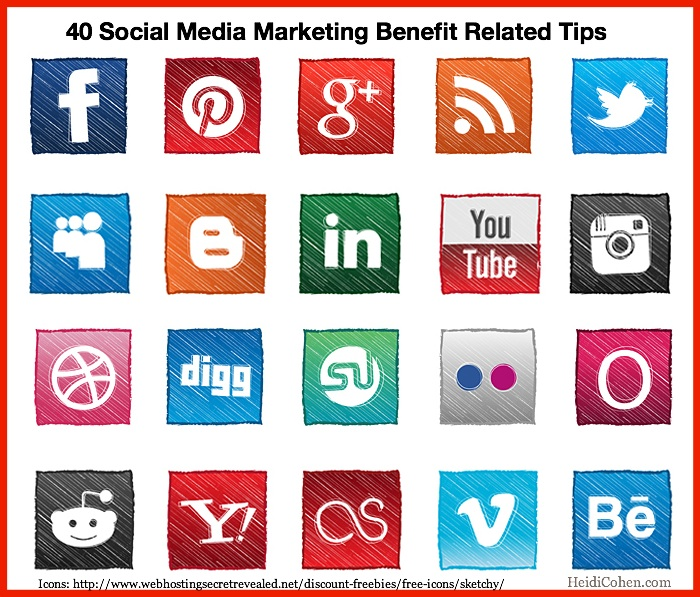 40 Social Media Marketing Benefit Related Tips-Heidi Cohen