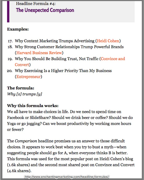 Sample of post that uses simple 5 step blog post formula