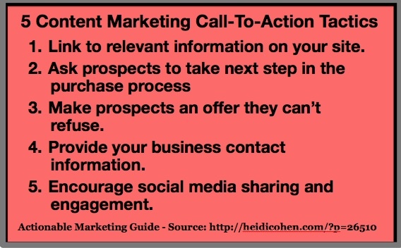 5 content marketing call to action tactics