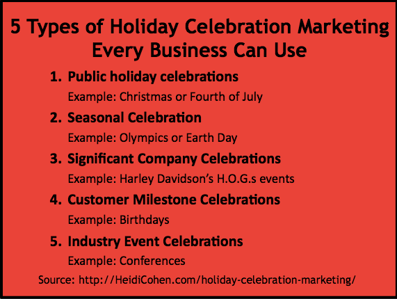 Holiday Celebration marketing