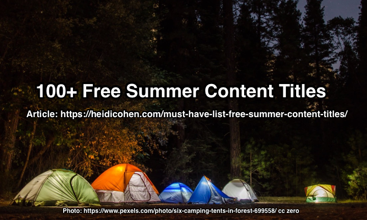100+ Free Summer Content Titles