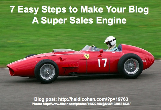 7 Easy Steps to Make Your Blog A Sales Engine