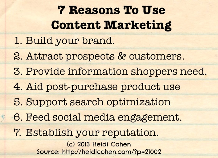 7 Reasons to Use Content Marketing