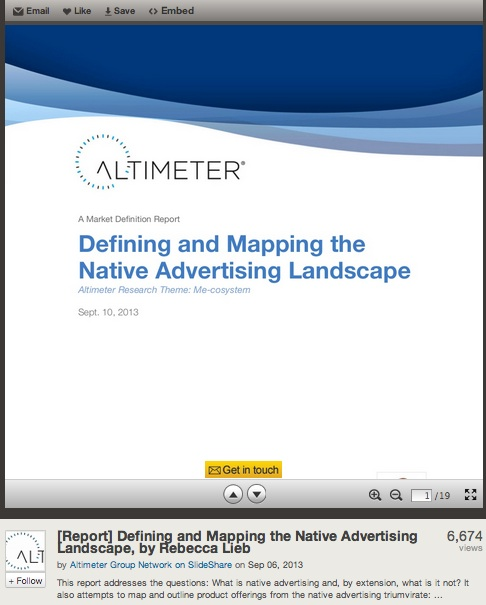 Altimeter Group Shares Original Research on Slideshare