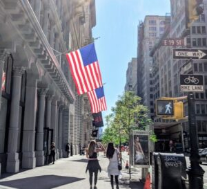 flags on 5th Ave