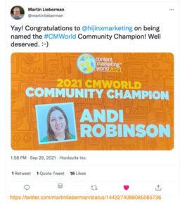 Andy Robinson CMWorld Champion