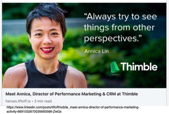 Annica Lin Quote
