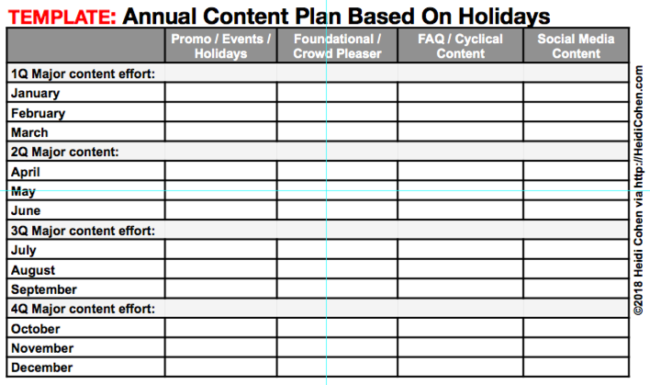 Dad's social media lesson-Annual content planning