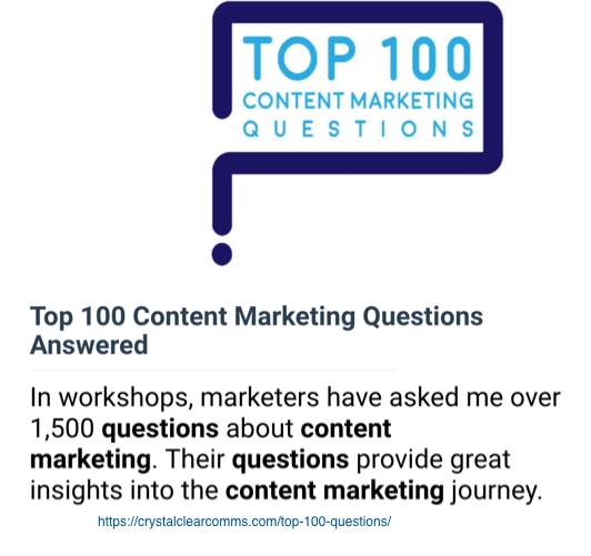 Customer FAQ Content - Core Content TYpes