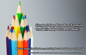 Simple 5 step blog post formula