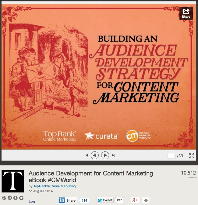 Audience Development for Content Marketing eBook #CMWorld-2-1-2-1