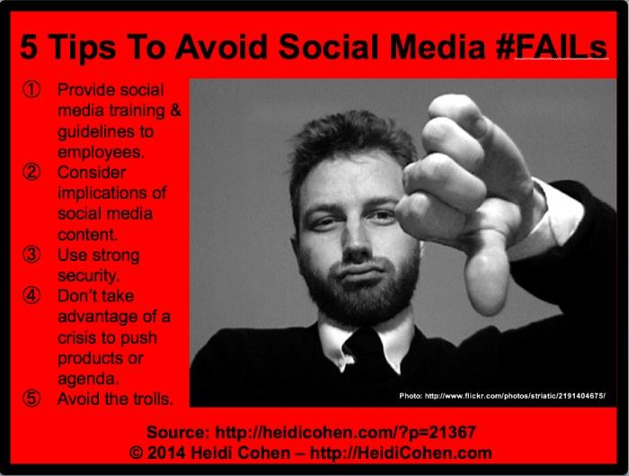 5 Tips To Avoid Social Media Fails