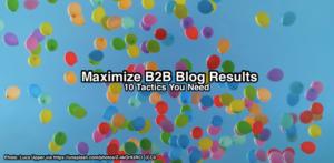 Maximize B2B Blog Results