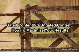 Gated Content VS Ungated Content