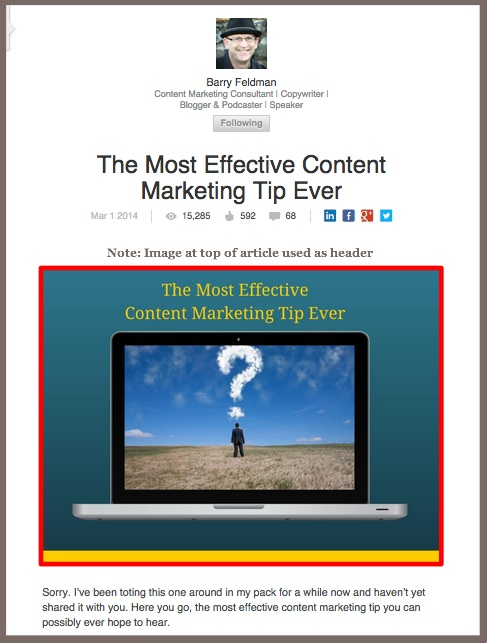 Barry Feldman -LinkedIn Publishing