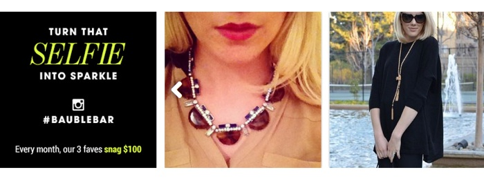 Instagram shows Bauble Bar Product