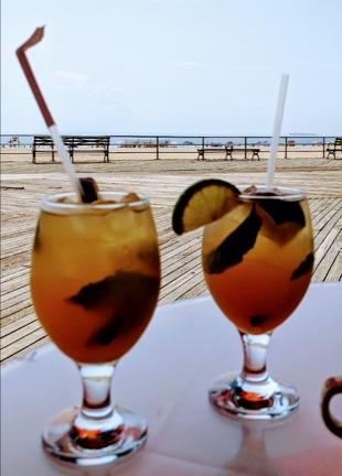 Drinks on Brighton Beach Boardwalk