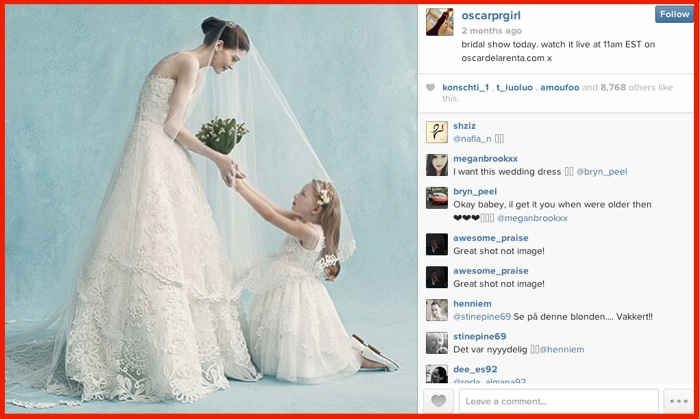 Instagram Visual Content Marketing - Oscar de La Renta