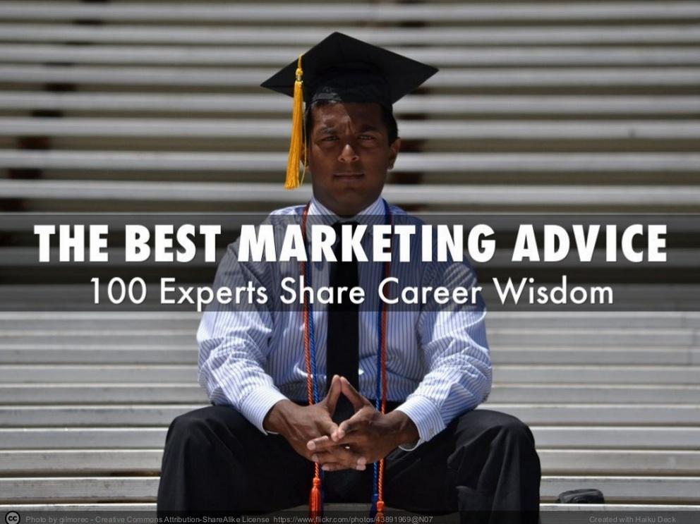 Best Marketing Advice – 100 experts