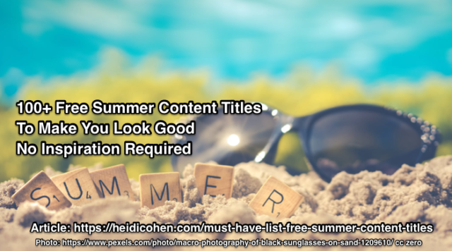 Free Summer Content Titles
