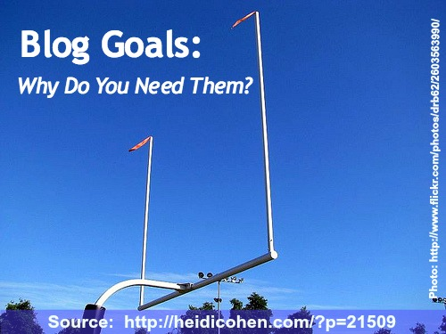 Why do you need blog goals