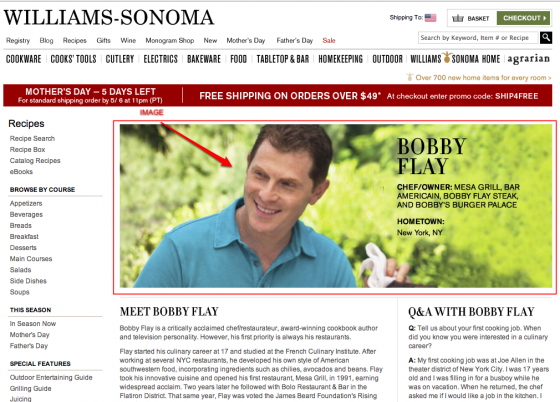 Bobby Flay Interview on Williams-Sonoma