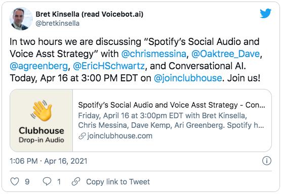Bret Kinsella Tweet