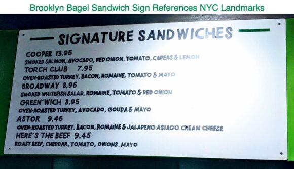 Brooklyn Bagel Signature Sandwhiches