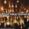 Blog Post Idea Generation