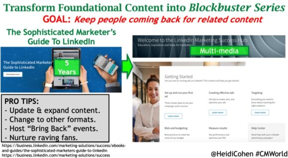 transform foundational content into blockbuster series