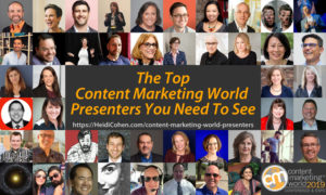 The Top Content Marketing World Presenters You Need to See
