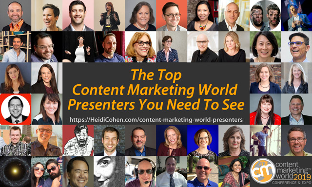 Top Content Marketing World Presenters -Conference Blog Posts