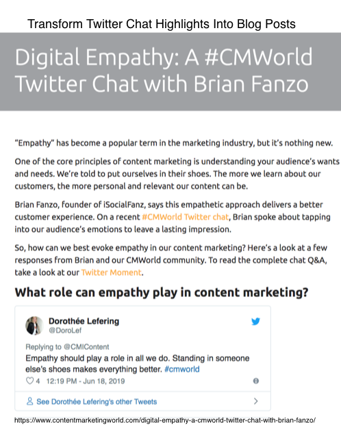 Twitter Chat Content Reuse