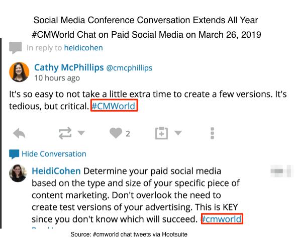Social media conference conversation