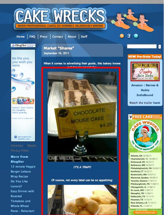 Photos are highlight of Cake Wreck blog