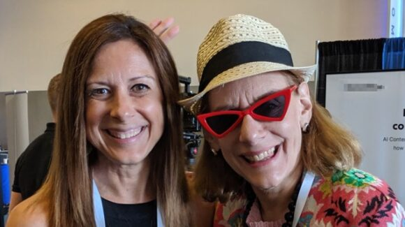 Cathy McPhilips and Heidi Cohen at CMWorld