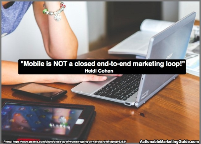 Mobile Isn't closed loop marketing