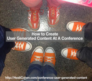 How to create User Generated Content at a conference
