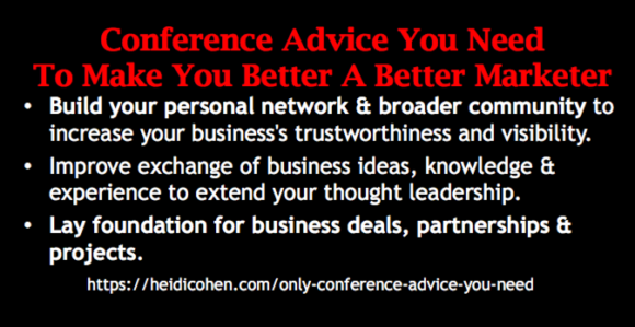 Only Conference Advice You Need