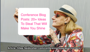 conference blog posts content