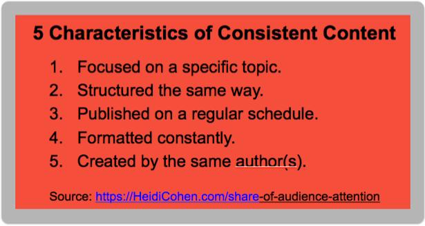 5 Characteristics of Consistent Content