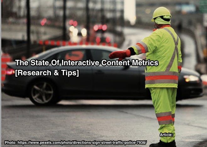State of interactive content marketing metrics